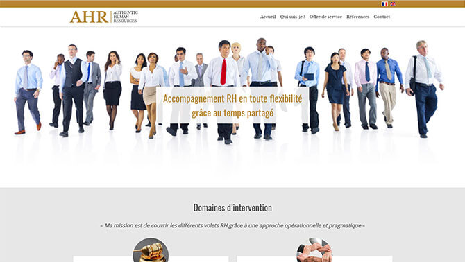 Authentic Human Resources - Site vitrine